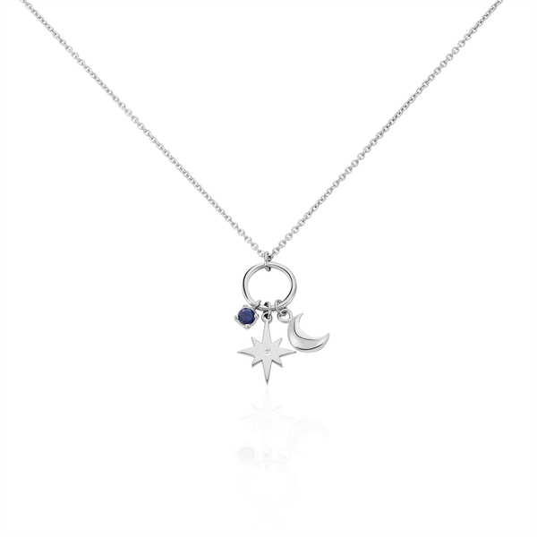 Collier Argent Rhodie Evyna Charms Lune