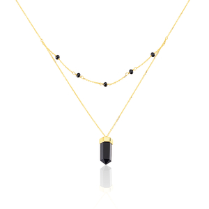 Collier Pierres Brutes Or Jaune