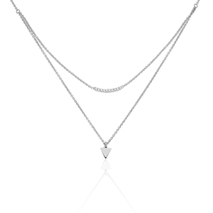 Collier Argent Double Chaines