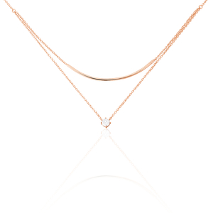 Collier Argent Rose Ruth